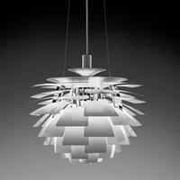 ingrosso lampada a sospensione di carciofi-Danimarca Louis Poulsen PH Artichoke LED Lampade a sospensione Cono pigna Droplight Lampadari leggeri Lampada Luci a sfera Pinecone
