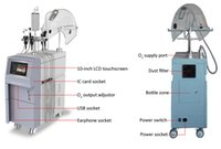 bipolar rf yüz makinesı toptan satış-Yüksek Kalite Çok Fonksiyonlu Güzellik Yüz Makinesi Oksijen Sprey ve Bipolar Tripolar RF Supersonic Gözler Yüz için