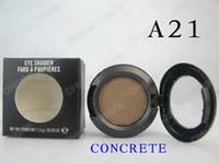 sombra de ojos en polvo único al por mayor-1.5g Eyeshadow Powder Makeup Single Eyeshadow 24 colores Nombre inglés 10pcs