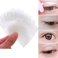 Wholesale Eye Tape Makeup - 30 Pairs Invisible Double Eyelid Tape Stickers Eye Charm Eye Tape Eyelid Trial Eyes Makeup Cosmetics Tools Beauty Essentials