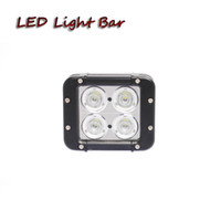 Wholesale Square Driving Led Light - Free shipping 6pcs 40W 4.6in led work light bar truck trailer driving fog lamp machinery snow truck pick up backing up led light bar