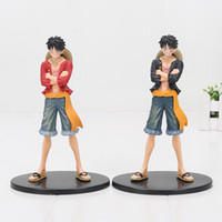 17cm 2styles One Piece Monkey D Luffy Jeans Freak PVC Action Figure Collectible Model Boneca de brinquedo
