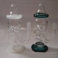 ingrosso bottiglia del bambino nuovo-New Baby Bottle Oil Rigs bong in vetro per pipa ad acqua con diffusore di fori di spillo con raccordi dab