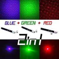 Wholesale Single Beam Laser Lights - Retail Box 5mW 532nm Green Light 2in1 Single Point Beam Laser Pointer Pen With Cap For SOS Mounting Night Hunting Teaching Xmas Gifts