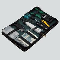 testador de cabos rj45 rj11 rj12 venda por atacado-Atacado RJ45 RJ11 RJ12 CAT5 Rede LAN Kit de Ferramentas Cable Tester Crimp Crimp Plugue Alicates Lots20