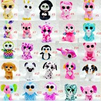 Wholesale Ty Stuffed Animals Wholesale - TY beanie boos Plush Toys simulation animal TY Stuffed Animals super soft 17cm with tag for Kids Birthday Gifts