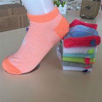 Wholesale fedex art - Pink U&A Men Women's Socks Boys & Girl's Short Sock Outdoors Sports Socks Ankle Socks 100 pcs DHL Fedex Shipping