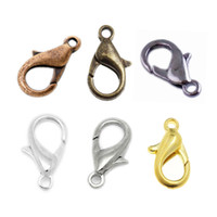 Wholesale Silver Lobster Clasp Jewelry Findings - Fashion 100 Pcs Silver Plated Lobster Clasps Hooks Jewelry Finding For DIY Jewelry Making Bracelets Neaklaces