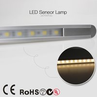 Wholesale Lighting Ir Sensors - Wholesale-50cm 24leds 5050 IR Infrared Body Motion Detector LED strip Bar light Sensor tube 0.5m 5.8W 12V cupboard cabinet lights lamps