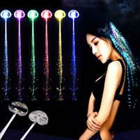 Pinces À Cheveux Allumées Pas Cher-LED Flash tresse femmes coloré lumineux Barrettes Barrette Fiber épingle à cheveux Light Up Party Halloween Bar Nuit Xmas Toys Decor DHL gratuit JU191