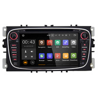Alegre Duplo 2 Din Android 5.1 Quad Core 1024 * 600 Car DVD Player GPS Navi Para Ford Focus Mondeo Radio Galaxy 3G Áudio Unidade Stereo cabeça