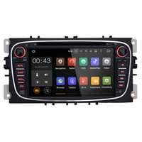Радостные Double 2 Din Android 5.1 Quad Core 1024 * 600 DVD-плеер автомобиля GPS навигация для Ford Focus Mondeo Galaxy 3G Аудио Радио Стерео автомагнитол