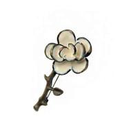 рекламные материалы оптовых-Новая мода женщины брошь цветок отворотом Pin сплава материала кнопка Stick цветок броши для свадьбы и продвижение подарок