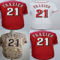 Wholesale Kids Camo - Factory Outlet Custom Mens Womens Kids Toddlers Cincinnati 21 Todd Frazier 100% Stitched Cool Flex Base Camo Grey White Red Baseball Jerseys