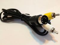 sega genesis av cables al por mayor-Nuevo cable AV Cable adaptador de audio y video RCA para Sega Genesis 1 Mega Drive Master System