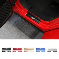 Wholesale Door Guards Black - Auto Exterior Accessories High Quality Best Selling Door Sill Entry Guards Strips 4 doors For Jeep Wrangler 2007-2016