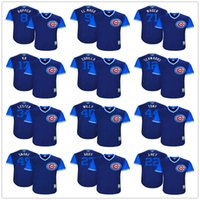 Wholesale Addison Russell - Nickname Kyle Schwarber Kris Bryant KB Addison Russell Anthony Rizzo Willy El Mago J-Hey Addy Navy Pull Down Chicago Cubs Weekend Jerseys