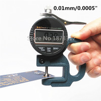 """Wholesale Thickness Gauge Measuring Tool - Wholesale-Digital Percentile Thickness Gauge 0-10mm 0.01mm 0.0005"""" Thickness Tester Meter Paper Film Leather Thickness Measuring Tool"""