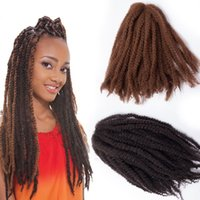 "Wholesale 17 Extensions - Afro Braiding hair Puffs kinky curly bulk hair extensions 45cm,17"" 32Roots Set 100% Kanekalon Havana Mambo Twist Crochet Braid Hair Pieces"