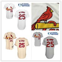 Wholesale Sport Marks - Discount Mark McGwire Jersey St. Louis Cardinals #25 Authentic Baseball Jerseys Embroidery Stitched Onfield Home Men's Sport Shirts