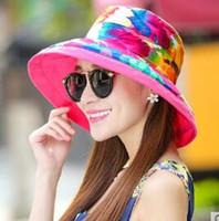 amplio sombrero de playa floppy al por mayor-Las mejores mujeres de la manera de la calidad de las señoras plegable ancho ancho grande del verano del sol del sombrero del sombrero de paja del casquillo del sombrero de paja envío de la gota nueva llegada
