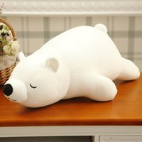 Wholesale Polar Stuff - Wholesale-45cm Polar Bear Soft Stuffed Toy Nanoparticle Stuffed Doll Polar Bear Nano Doll Cute Plush Toy Gift For Lovers AND Kids