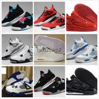 Pattini di pallacanestro mens di Retro 4 IV dell'aria di alta qualità Puro Soldi Alati di Fuoco Oreo Rosso CAVS Bianco CAVS Motosports Military Blue Athletic shoes