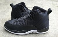Wholesale Christmas Pre - 2018 new mens 12 Black Nylon Pre Order 12 Taxi Barons Gamma Blue Black Sneakers Man Basketball Shoes Free Shipping