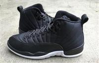 Wholesale Free Taxi - 2016 new air retro 12 mens 12 Black Nylon Pre Order 12 Taxi Barons Gamma Blue Black Sneakers Man Basketball Shoes Free Shipping
