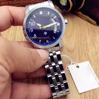 Wholesale Blue Gem Stones - New AAA Quality Men watches Luxury watch Waterproof Analog with Calendar Display Flywheel Design Mechanical Automatic Wirstwatches For men
