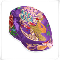 Wholesale Wholesale Sun Hats China - Fashion hat folk style duck tongue Hat Lady peacock China traditional handmade hat peaked cap