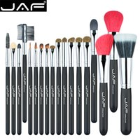 Wholesale Goat Pony Hair Makeup Brushes - 18 Pcs Make Up Brush Set Natural Super Soft Red Goat Hair & Pony Horse Hair Studio Beauty Artist Makeup Brushes J1813AY-B