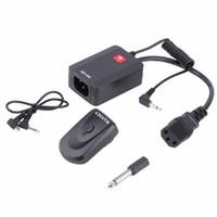 transmisor de cámara a distancia al por mayor-Universal AC-04 1/4 Channel Wireless Remote Studio Flash Sync Trigger Receptor con transmisor para cámara