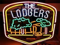"""Wholesale Billiards Signs - The Lodgers Real Glass Neon Light Signs Bar Pub Restaurant Billiards Shops Display Signboards 17""""x14"""""""