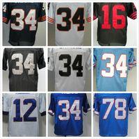 Wholesale Walter White Shirt - sports 16 Joe Montana 78 Bruce Smith 12 Jim Kellys 34 Thurman THOMAS jerseys Earl Campbell Bo Jackson Walter Payton men Vintage Retro shirt
