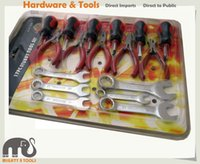 Wholesale Electrical Tools Sets - All-in-1 Cr-V 17pc Stubby Tool Set: Combination Spanner Wrench Mini Pliers Screwdriver