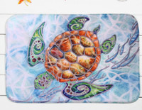 Wholesale 40 cm Multicolour Sea turtle Bath Mats Anti Slip Rugs Coral Fleece Carpet For For Bathroom Bedroom Doormat Online