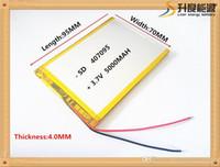 batterie lithium ion polymère 3.7v achat en gros de-3.7V 5000mah (batterie lithium-ion polymère) batterie Li-ion pour tablette PC de 7 pouces MP3 MP4 [407095] à la place de [357095], haute capacité