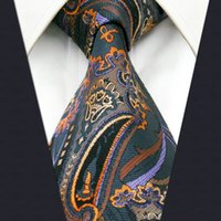 Wholesale Necktie Silk Brand - A8 black Multicolor Floral Pattern Silk Brand New Fashion Men's Ties Necktie extra long size