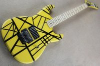 Wholesale Electric Guitar Yellow - Wholesale High Quality Yellow Eddie Van Halen 5150 Maple Fingerboard Electric Guitar Free Shipping