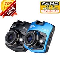 dvr japonês venda por atacado-2017 Novo Original Podofo A1 HD 1080 P de Visão Noturna Câmera Do Carro DVR Dashboard Video Recorder Traço Cam G-sensor Frete Grátis