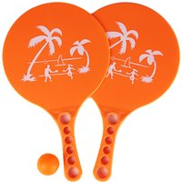 Wholesale Beach Paddles - Wholesale- 1 Pair Plastic Matkot Paddle Israeli Paddle Ball- Beach Tennis -Pro Kadima Child Favorite Hot Toys Kids Outdoor Fun Toy Sport