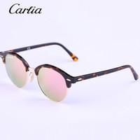 Wholesale Top Brands Sunglasses Wholesale - Carfia 2016 New Arrival sunglasses Brand Desingner 4246 Fashion sunglasses men sunglasses women Top quality Multi-color mirror lens glasses