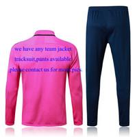 Wholesale Women Training Suits - 2016  17 Soccer Jackets Any Team Soccer Kits camisetas de futbol Football Shirts Man shirts kids kits women jacket sweater training suits