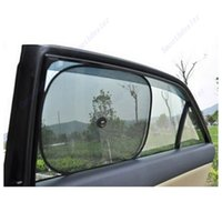 Оптовое - новое прибытие 2Pcs окно автомобиля Sunshade Sun Shade Visor Side Mesh Cover Shield Sunscreen Black 44 x 36 cm-D2TB