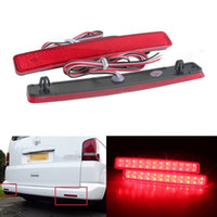 Wholesale Tail Lights Red For Cars - 2x LED Car Styling Red Rear Bumper Reflector Light Fog Parking Stop Brake Light Tail Lamp for VW Multivan Caravelle T5 2005-2012