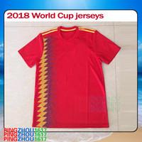Wholesale Wholesalers Spain - 2018 2019 Spain soccer jerseys Spain national team home jerseys 2018 World Cup Spain soccer jerseys football shirts free DHL