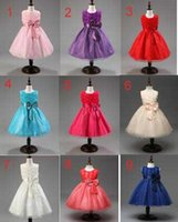 Wholesale Euro Dress - XCR43 Euro Fashion Girl Formal Attire Dress Princess Tutu Dress Girl Party Elegant Gown Dress Ball Gown Dress Wedding dress Gift