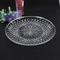 Wholesale Plastic Home Plate - Transparent Food Sweets Fruit Dessert Dish Round Plastic Tableware Plates Snack Tray Bar Home Accessories ZA4296