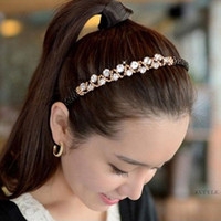 Wholesale Hot Acessories Wholesale - Hot Jewelry Girl Tiaras Hair Accessories Crystal Hair Bridal Hairband Acessories Wedding Headbands Headpieces For Weddings free shipping